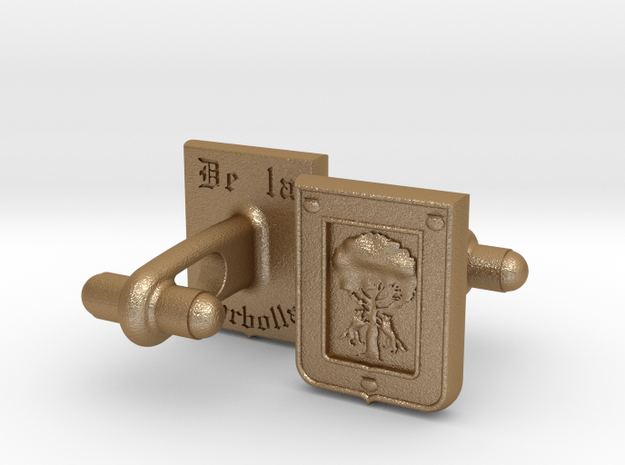 Heraldic Cufflinks (De la Borbolla) 3d printed