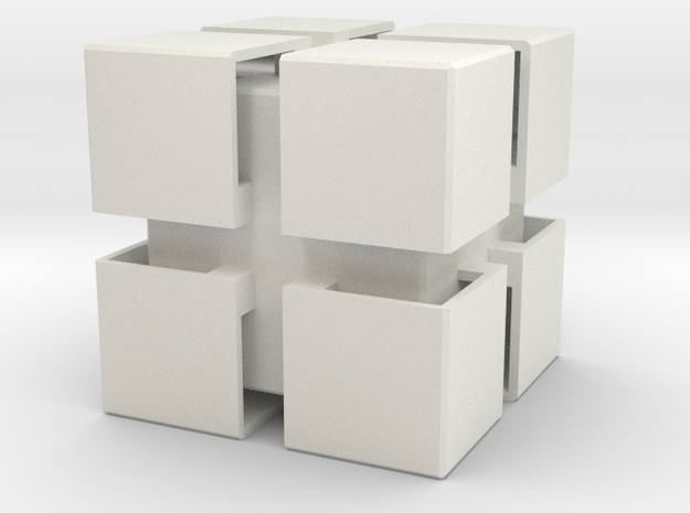 Qube in White Natural Versatile Plastic
