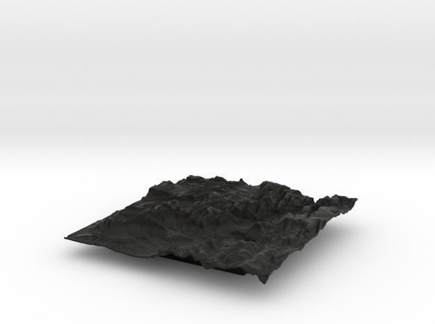 8'' Zion National Park Terrain Model, Utah, USA 3d printed