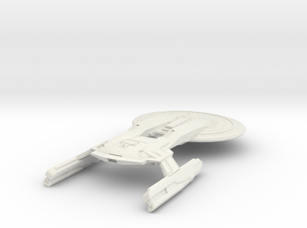 Texas Class Battleship in White Natural Versatile Plastic