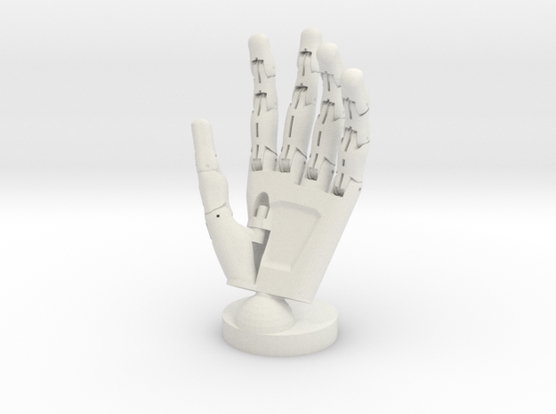 Cyborg open hand small in White Natural Versatile Plastic