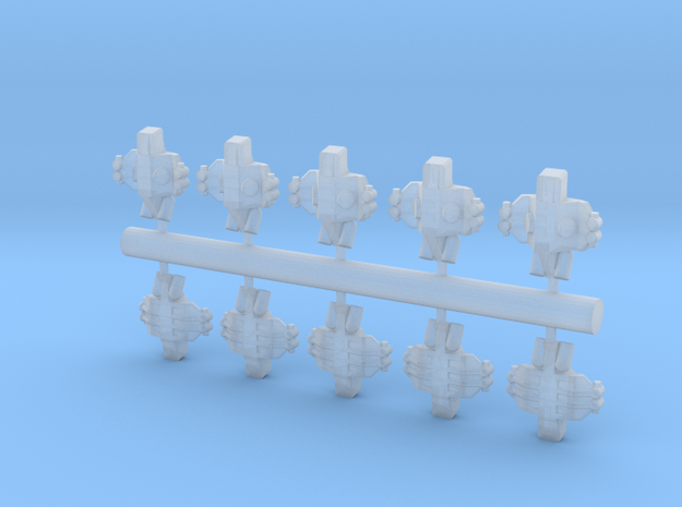 10 Human Alliance assaulters 3d printed