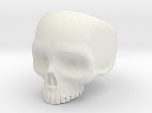Skullring Size 8 in White Natural Versatile Plastic