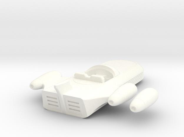 Speeder-15mm in White Processed Versatile Plastic