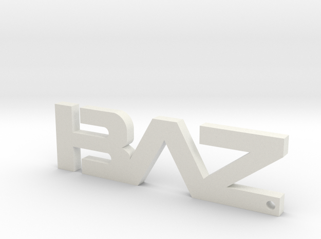 BAZ Keychain (Large) in White Strong & Flexible