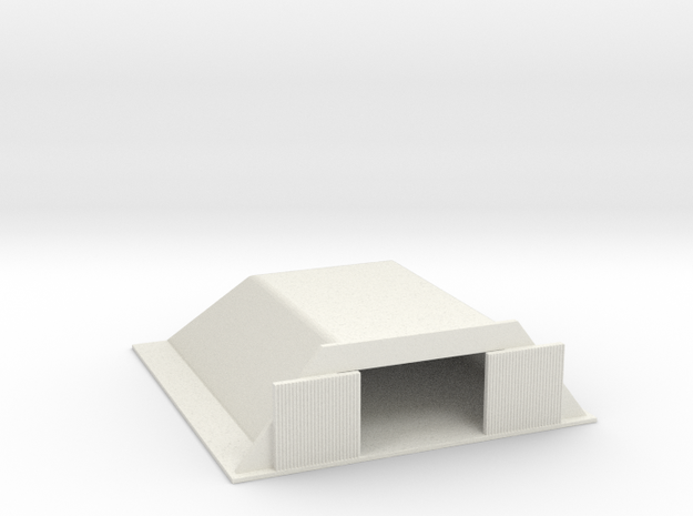 1/700 Small Concrete Hanger in White Natural Versatile Plastic