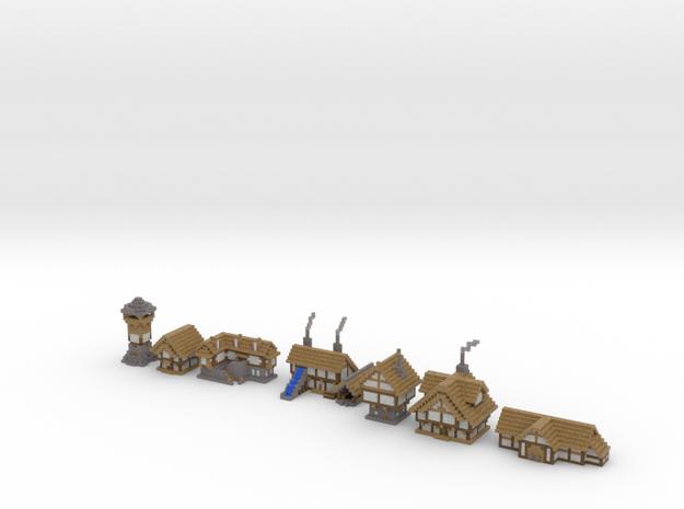 Medieval Buildings 3 in Full Color Sandstone
