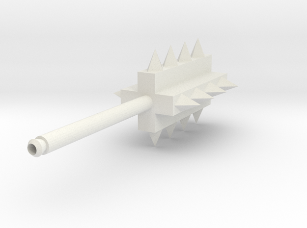 Battle Hammer MkII in White Natural Versatile Plastic