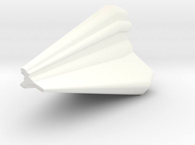 Tholian Skeneturan Class Fighter in White Processed Versatile Plastic