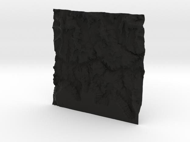 8'' Grand Canyon Terrain Model, Arizona, USA 3d printed