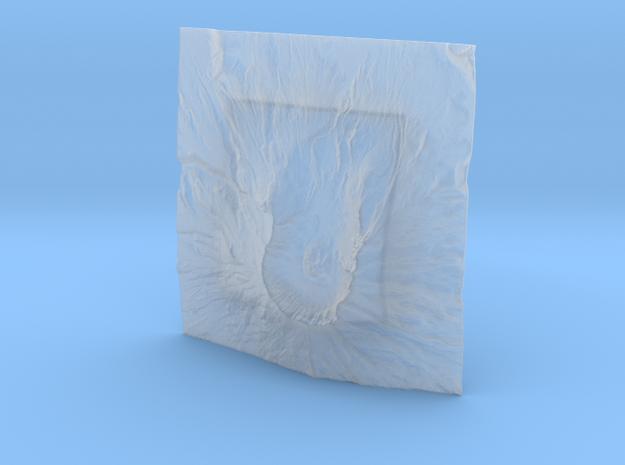4'' Mt. St. Helens Terrain Model, Washington, USA 3d printed