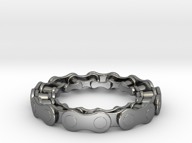 RS CHAIN RING SIZE 7.5 in Fine Detail Polished Silver
