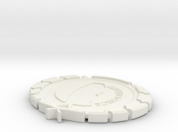 Future Timeline JF Badge in White Natural Versatile Plastic