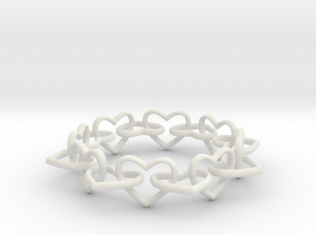 Heart Chain 60 3d printed