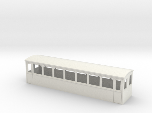 OO9 modernised tourist saloon coach body 3d printed
