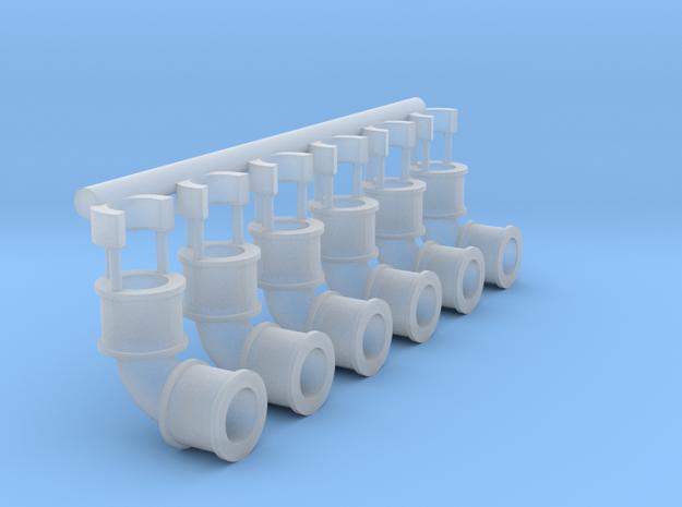90 pipe bend x6 3d printed