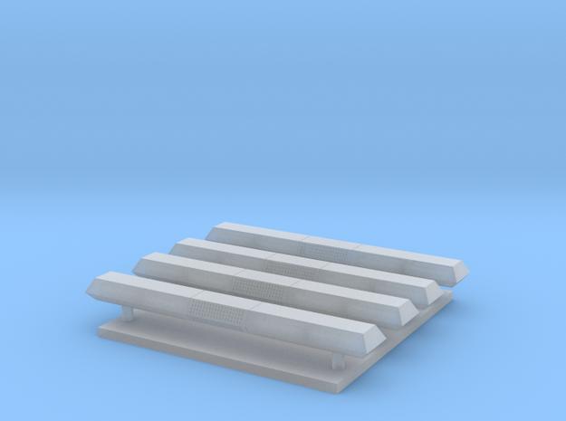 Lichtbak rechthoekig 4 stuks breed 24 mm 3d printed