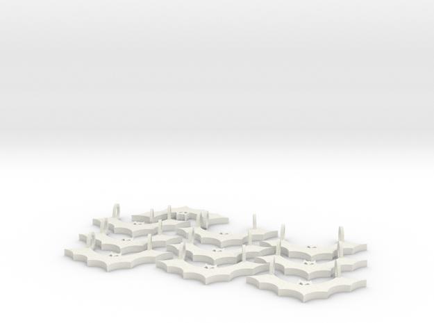 Bat Pendant (Multiple Pack 10) 3d printed