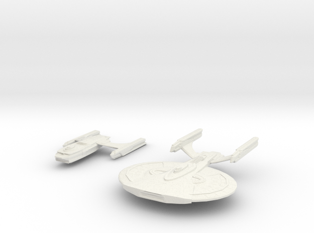 Archer Class Battleship In 2 parts in White Natural Versatile Plastic