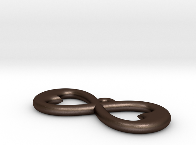 Two Hearts Infinity Symbol (Large) 3d printed
