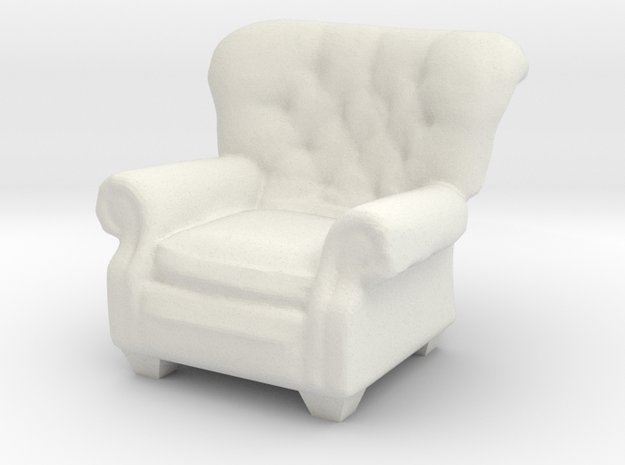 1:24 Armchair in White Strong & Flexible
