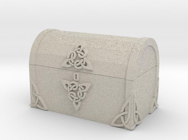 Celtic Treasure Chest in Natural Sandstone