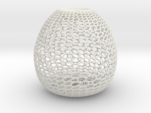 Hive Sculpture in White Natural Versatile Plastic