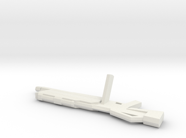 AMS-119 Heavy Beam Machine Gun 1/144 in White Strong & Flexible