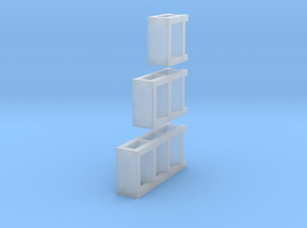 3 N Scale Garage Shelves (3 Sizes) 1 Each 3d printed