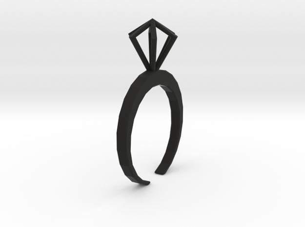 Little Diamond ring  - standard size 3d printed