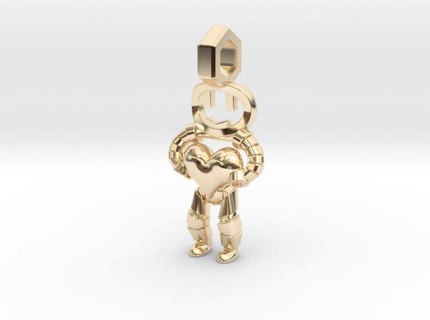 Little Droid heart Pendant