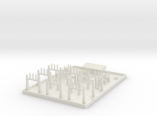 1/700 Large Power Substation in White Strong & Flexible