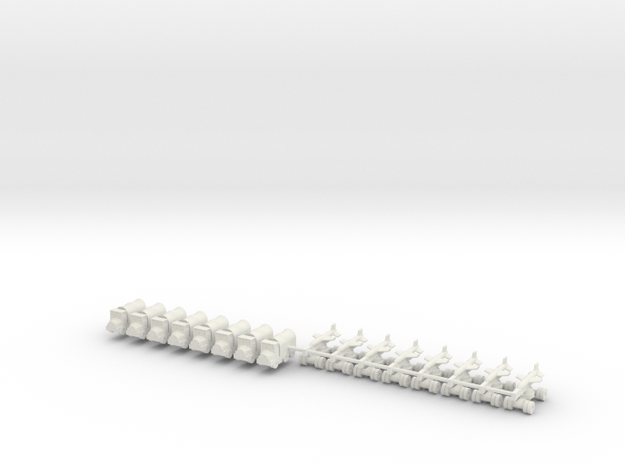1/600 Silkworm HY-2 Battery in White Natural Versatile Plastic
