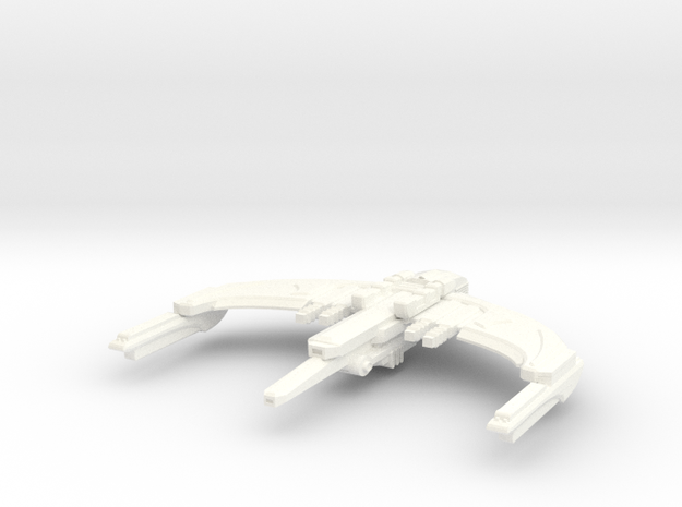 Allorax Class Romulan Cruiser in White Strong & Flexible Polished