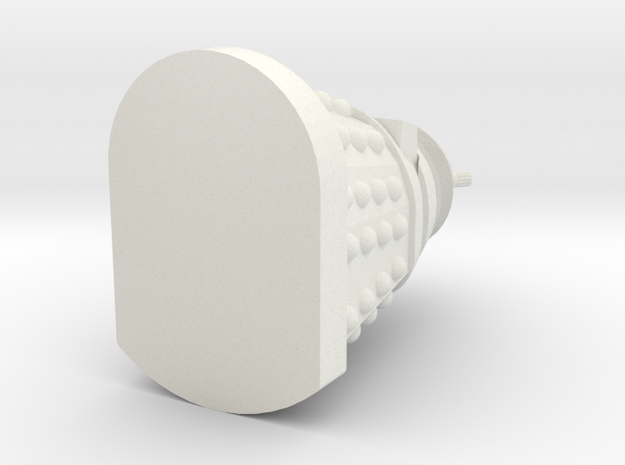 Dalek Earing in White Natural Versatile Plastic