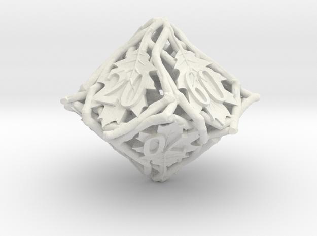 Botanical Die10 Decader Ornament in White Natural Versatile Plastic