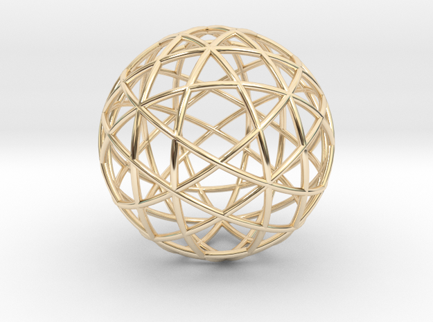 Star Cage: Sacred Geometry 12 Circles 40mm