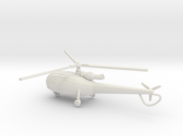 1:144 Alouette3 TRANSPORT   in White Natural Versatile Plastic
