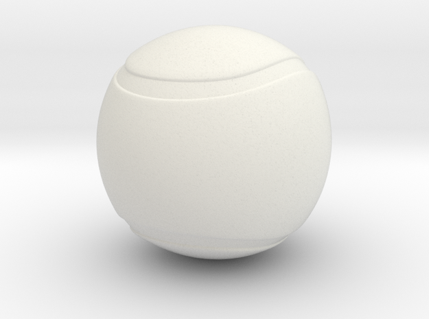 Tennis Ball Hollow in White Natural Versatile Plastic