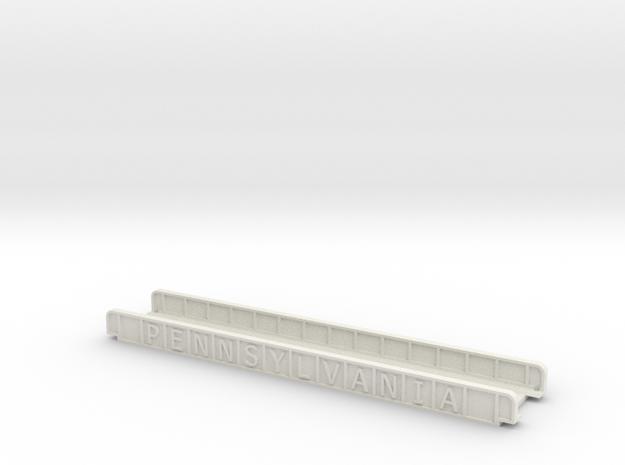 PENNSYLVANIA  165mm SINGLE TRACK in White Natural Versatile Plastic