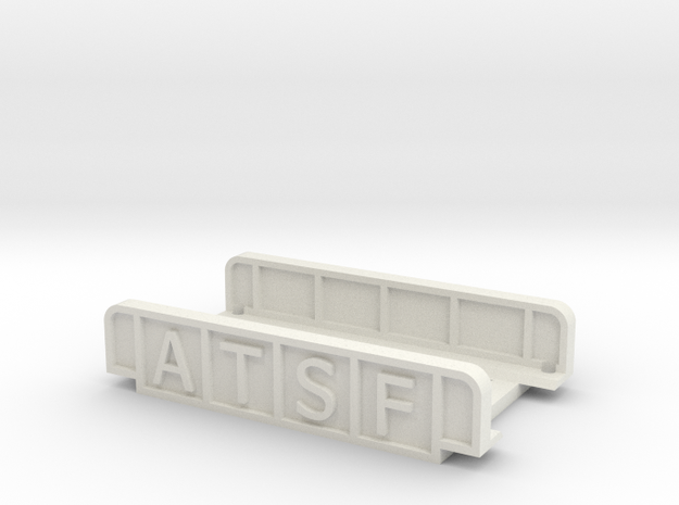 ATSF 55mm SINGLE TRACK in White Natural Versatile Plastic