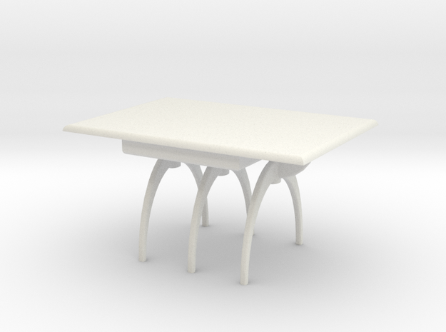 1:24 Moderne Dining Table in White Strong & Flexible