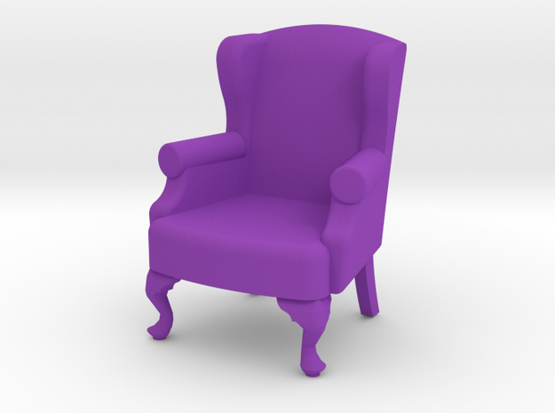 1:24 Queen Anne Wingback Chair 3d printed