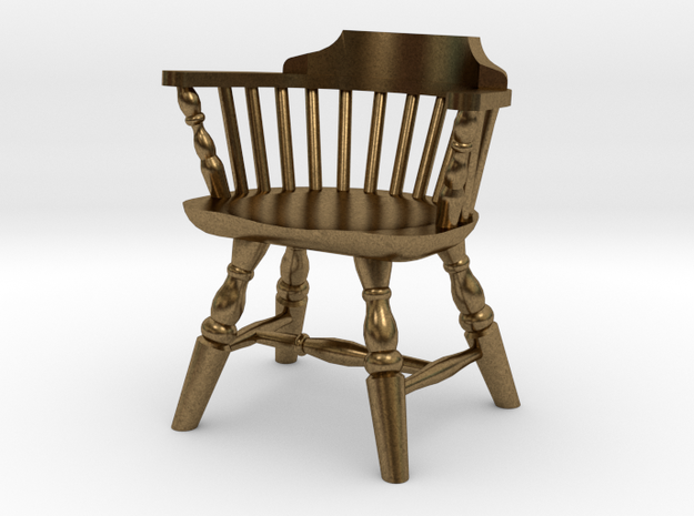 1:24 Low Back Windsor Chair 3d printed