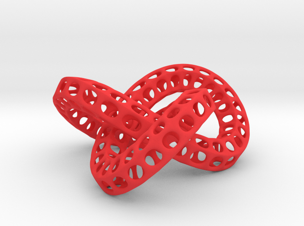 Triple Torus Knot in Red Strong & Flexible Polished