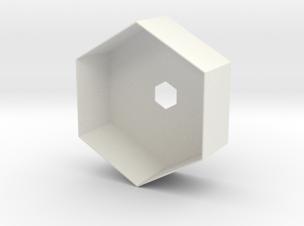 Hex Holder in White Strong & Flexible