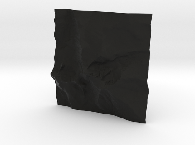 8'' Longs Peak Terrain Model, Colorado, USA 3d printed