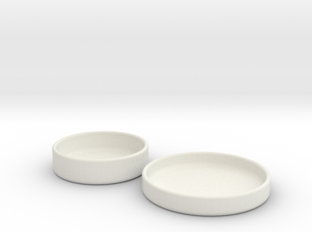 Petri Dish and Lid 60mm in White Strong & Flexible