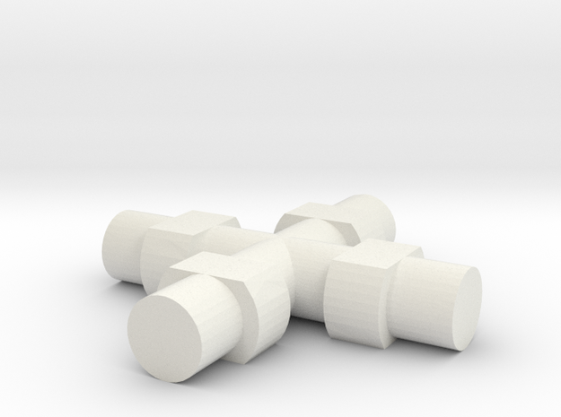 Rokenbok Universal Joint Axle in White Strong & Flexible