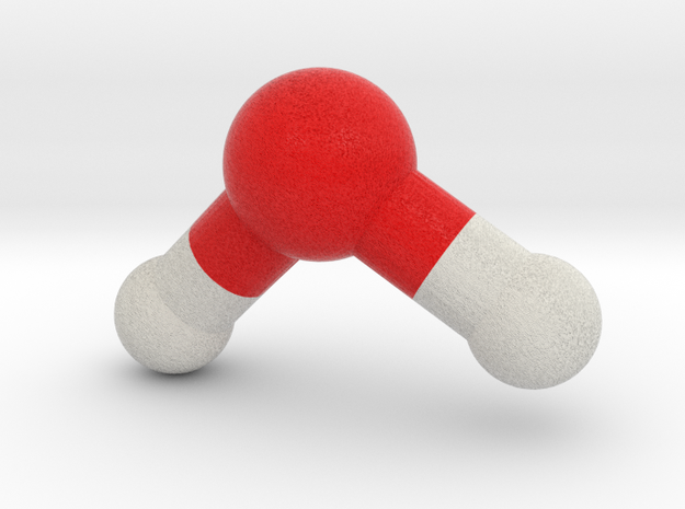 Water, H2O, Molecule Model. 4 Sizes. in Full Color Sandstone: 1:10